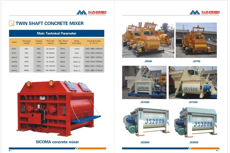 Download concrete mixer CATALOGUE