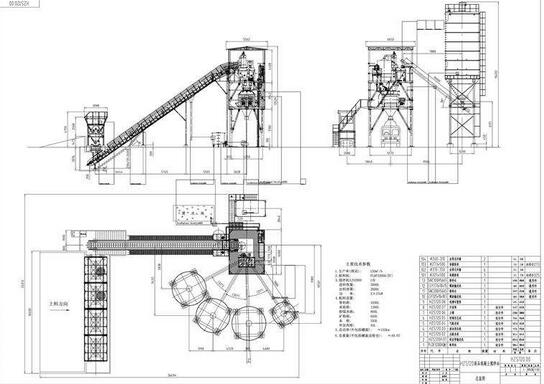 Dry Mix Concrete Batching Plant layout
